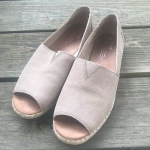 Toms Peep Toe Loafers